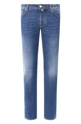Мужские джинсы JACOB COHEN голубого цвета, арт. J688 C0MF 01190-W4/53 | Фото 1