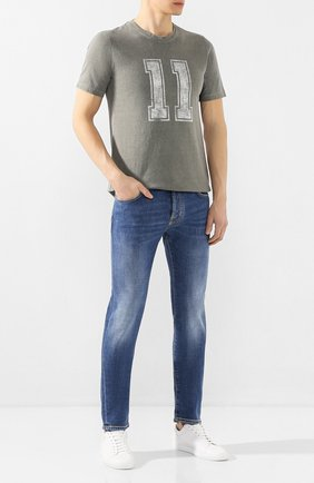 Мужские джинсы JACOB COHEN голубого цвета, арт. J688 C0MF 01190-W4/53 | Фото 2