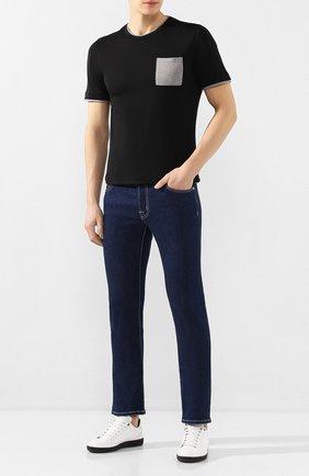 Мужские джинсы JACOB COHEN синего цвета, арт. J688 C0MF 00979-W1/53 | Фото 2