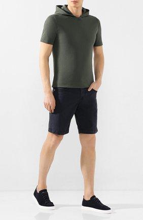 Мужские хлопковые шорты JACOB COHEN темно-синего цвета, арт. J6636 C0MF 06510-V/53 | Фото 2