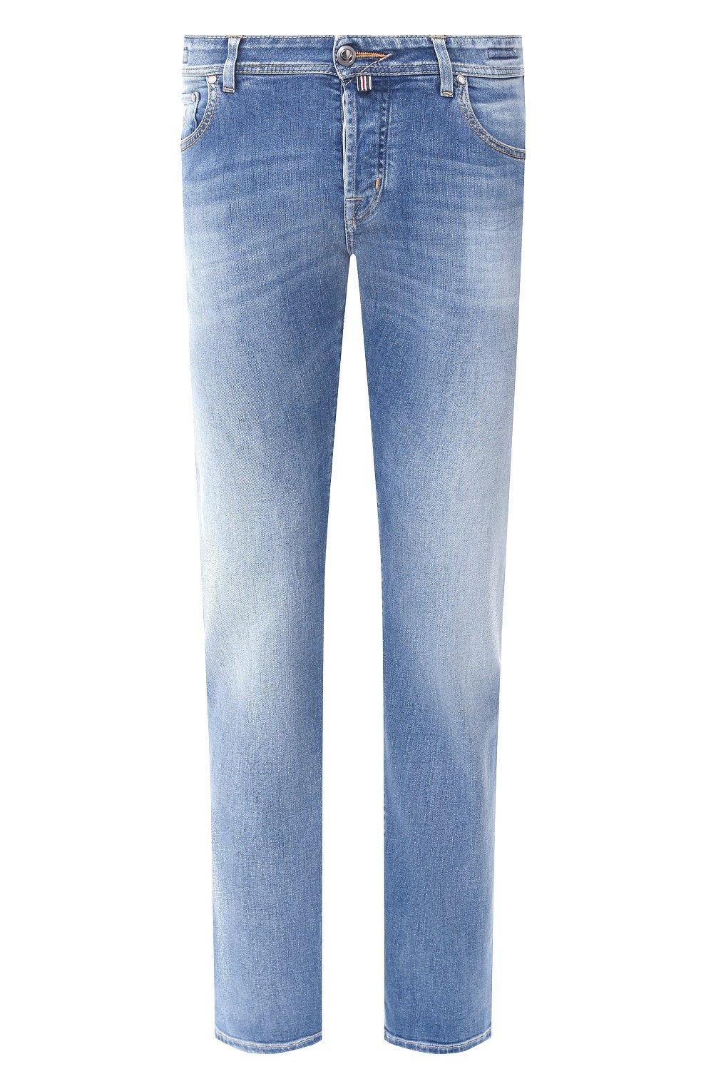 Мужские джинсы JACOB COHEN голубого цвета, арт. J620 LIMITED C0MF 08792-W3/53 | Фото 1