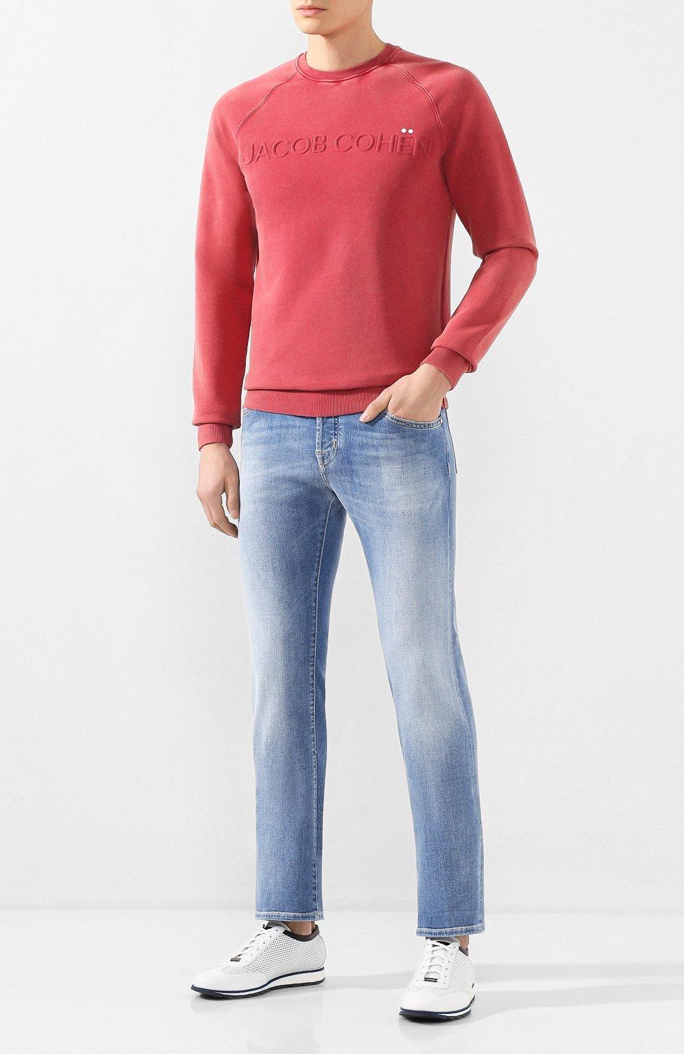 Мужские джинсы JACOB COHEN голубого цвета, арт. J620 LIMITED C0MF 08792-W3/53 | Фото 2