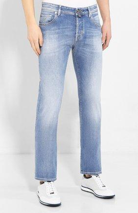 Мужские джинсы JACOB COHEN голубого цвета, арт. J620 LIMITED C0MF 08792-W3/53 | Фото 3