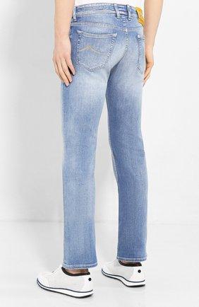 Мужские джинсы JACOB COHEN голубого цвета, арт. J620 LIMITED C0MF 08792-W3/53 | Фото 4