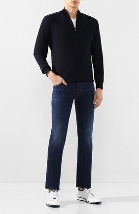 Мужские джинсы JACOB COHEN синего цвета, арт. J620 C0MF 01849-W2/53   Фото 2