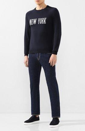 Мужские джинсы JACOB COHEN темно-синего цвета, арт. J620 C0MF 01190-W1/53   Фото 2