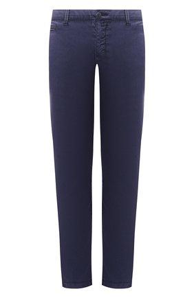 Мужские хлопковые брюки JACOB COHEN синего цвета, арт. B0BBY C0MF 08165-B/53 | Фото 1 (Материал внешний: Хлопок; Длина (брюки, джинсы): Стандартные; Силуэт М (брюки): Чиносы; Случай: Повседневный; Стили: Кэжуэл)