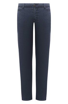 Мужские хлопковые брюки JACOB COHEN темно-синего цвета, арт. B0BBY C0MF 08165-B/53 | Фото 1