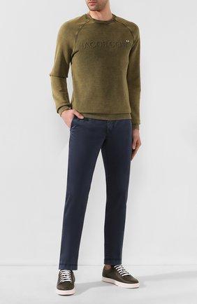 Мужские хлопковые брюки JACOB COHEN темно-синего цвета, арт. B0BBY C0MF 08165-B/53 | Фото 2