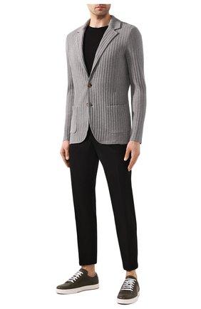 Мужской хлопковый пиджак ELEVENTY PLATINUM серого цвета, арт. A76GIAA01 MAG0A001   Фото 2
