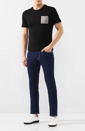 Мужская хлопковая футболка ELEVENTY PLATINUM черного цвета, арт. A75TSHA03 JER0A006 | Фото 2
