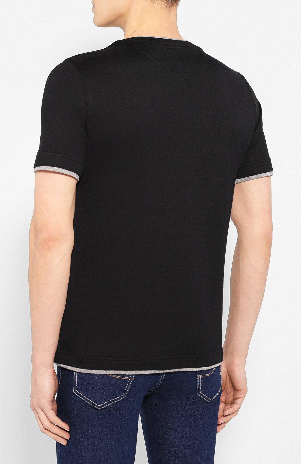 Мужская хлопковая футболка ELEVENTY PLATINUM черного цвета, арт. A75TSHA03 JER0A006 | Фото 4