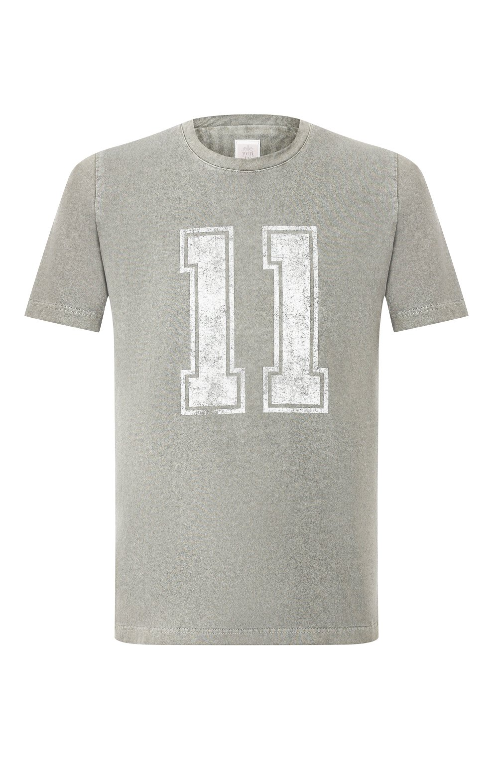 Мужская хлопковая футболка ELEVENTY хаки цвета, арт. A70TSHA03 TET0A008 | Фото 1