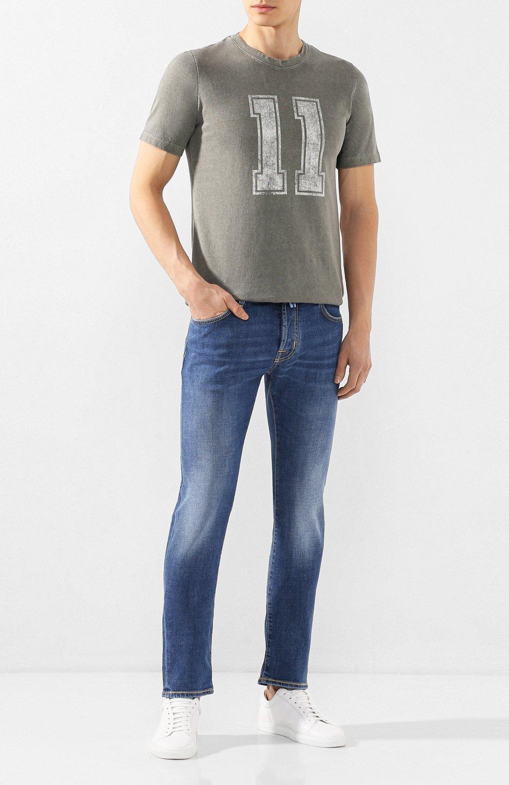 Мужская хлопковая футболка ELEVENTY хаки цвета, арт. A70TSHA03 TET0A008 | Фото 2