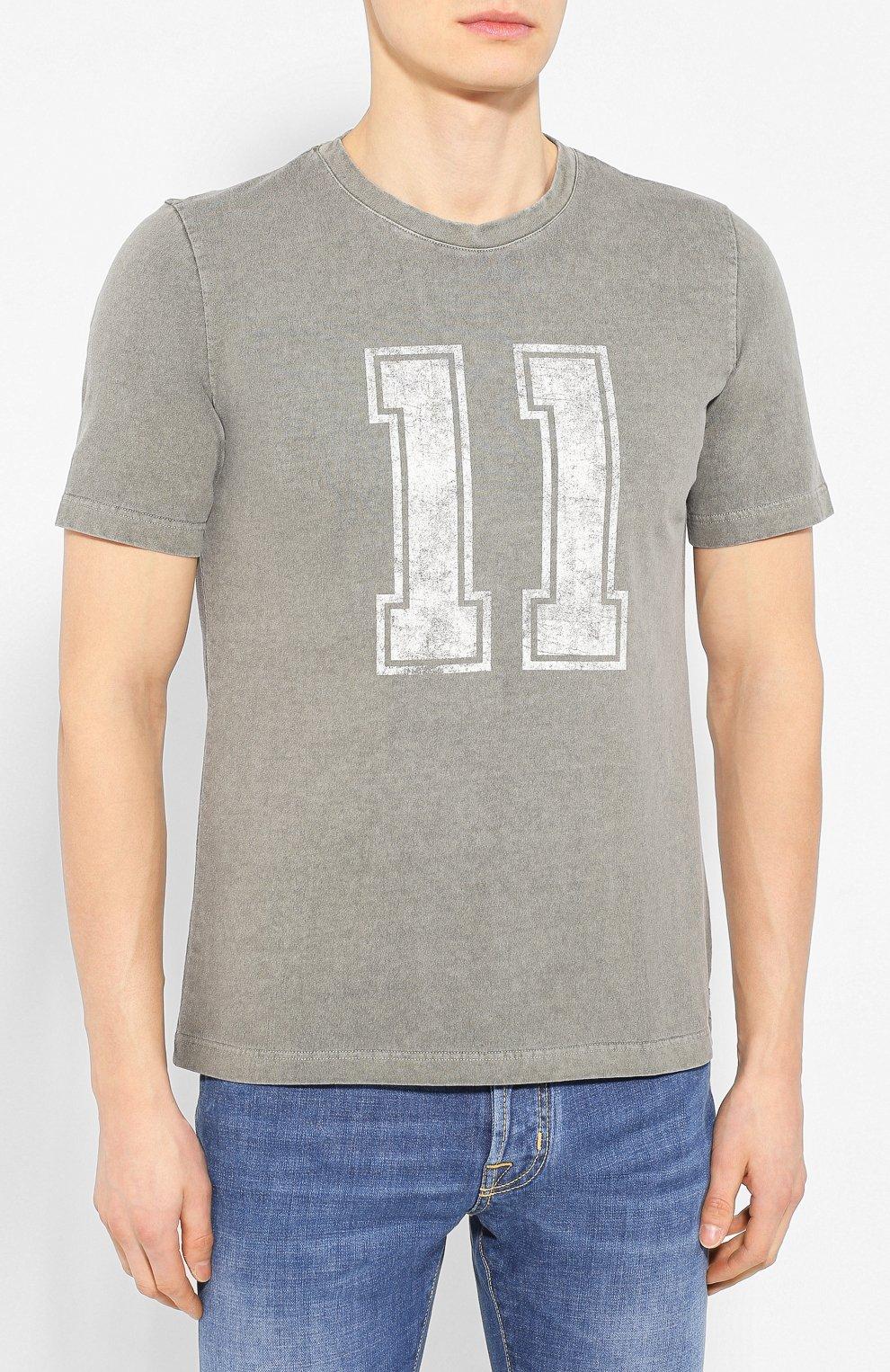 Мужская хлопковая футболка ELEVENTY хаки цвета, арт. A70TSHA03 TET0A008 | Фото 3