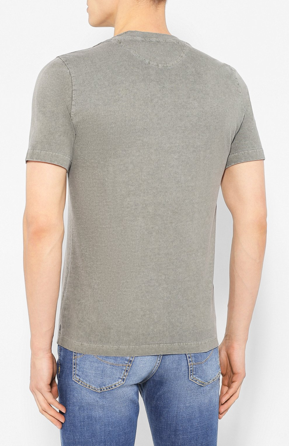 Мужская хлопковая футболка ELEVENTY хаки цвета, арт. A70TSHA03 TET0A008 | Фото 4
