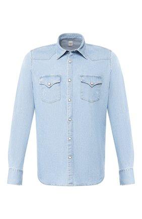 Мужская джинсовая рубашка ELEVENTY синего цвета, арт. A70CAMA07 TES0A217   Фото 1