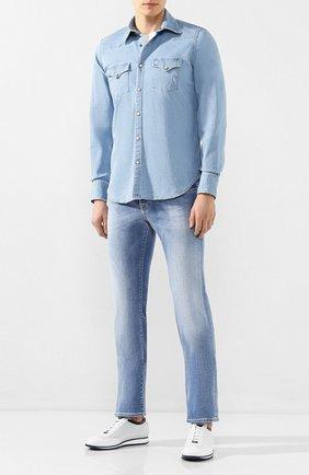 Мужская джинсовая рубашка ELEVENTY синего цвета, арт. A70CAMA07 TES0A217   Фото 2