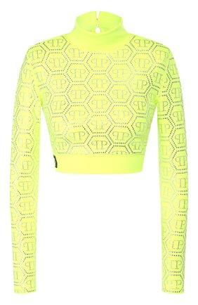 Женская пуловер из вискозы PHILIPP PLEIN желтого цвета, арт. S20C WRK0190 PTE003N | Фото 1