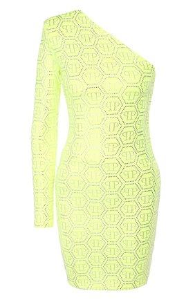 Женское платье из вискозы PHILIPP PLEIN желтого цвета, арт. S20C WRG1433 PTE003N | Фото 1