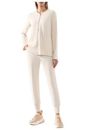 Женская блузка из вискозы STELLA MCCARTNEY бежевого цвета, арт. 341360/SCA06 | Фото 2