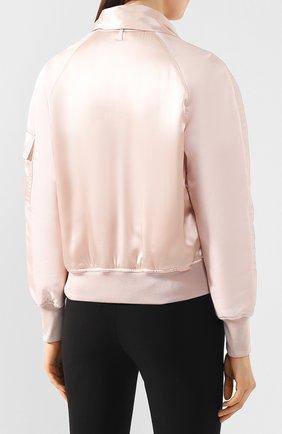Женский шелковый бомбер TOM FORD светло-розового цвета, арт. CS1076-FAX614 | Фото 4