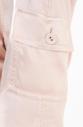 Женский шелковый бомбер TOM FORD светло-розового цвета, арт. CS1076-FAX614 | Фото 5