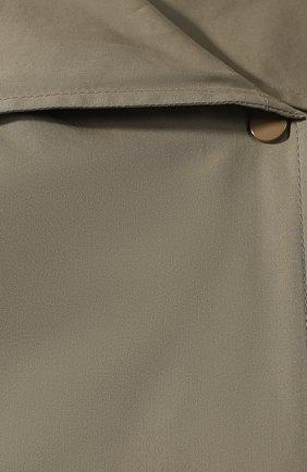 Женский плащ из смеси хлопка и вискозы BOTTEGA VENETA хаки цвета, арт. 609120/VK0N0 | Фото 5