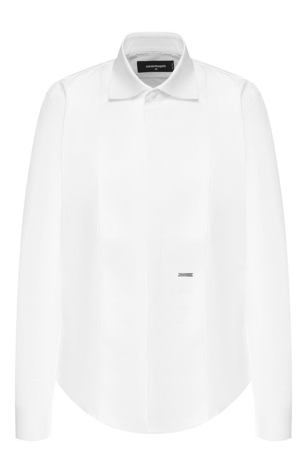 Женская хлопковая рубашка DSQUARED2 белого цвета, арт. S75DL0698/S42381 | Фото 1
