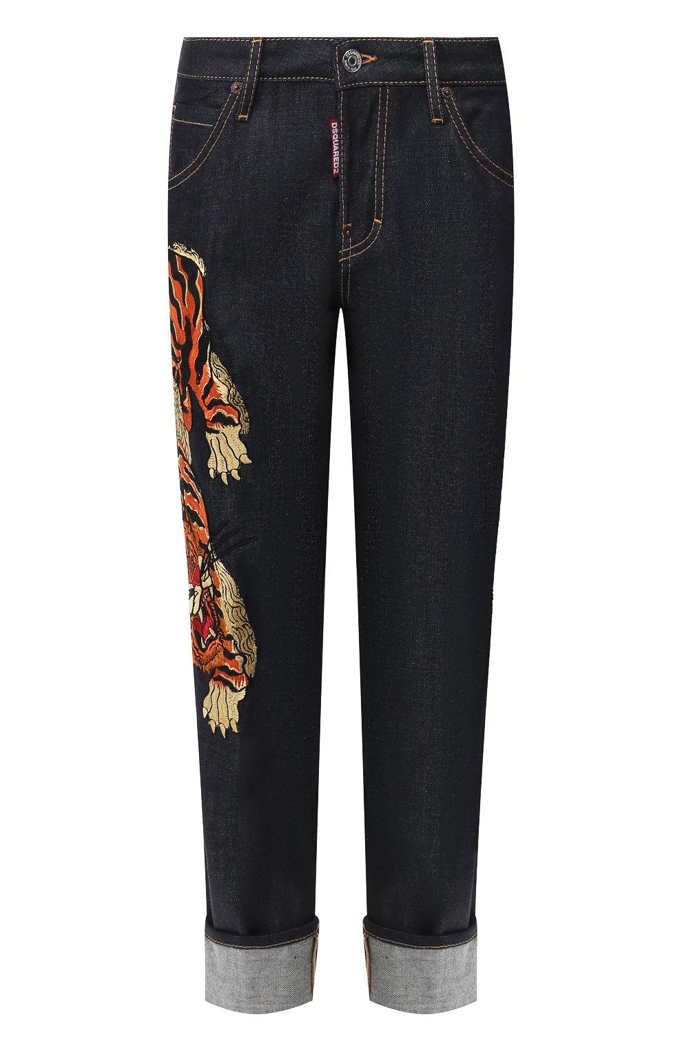 Женские джинсы DSQUARED2 синего цвета, арт. S72LB0307/S30309 | Фото 1