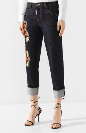 Женские джинсы DSQUARED2 синего цвета, арт. S72LB0307/S30309 | Фото 3