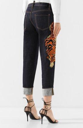 Женские джинсы DSQUARED2 синего цвета, арт. S72LB0307/S30309 | Фото 4