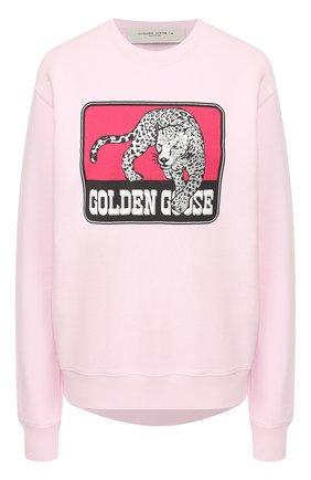 Женская хлопковый свитшот GOLDEN GOOSE DELUXE BRAND розового цвета, арт. G36WP029.S4 | Фото 1