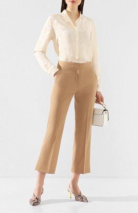 Женские шерстяные брюки STELLA MCCARTNEY бежевого цвета, арт. 529866/SNB48 | Фото 2