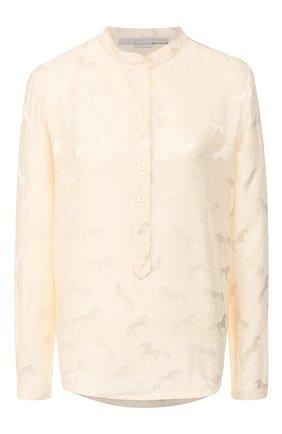 Женская блузка из смеси вискозы и шелка STELLA MCCARTNEY белого цвета, арт. 531885/SNA57 | Фото 1