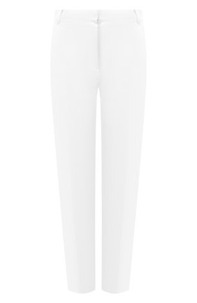 Женские хлопковые брюки D.EXTERIOR белого цвета, арт. 50831   Фото 1