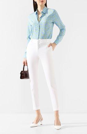 Женские хлопковые брюки D.EXTERIOR белого цвета, арт. 50831   Фото 2