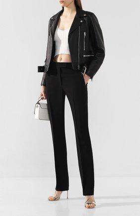 Женские брюки из вискозы HELMUT LANG черного цвета, арт. J09HW201   Фото 2