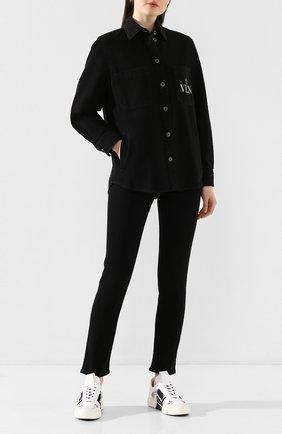 Женские джинсы VALENTINO черного цвета, арт. TB3DD09Q4VW | Фото 2