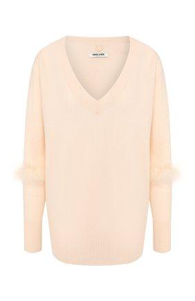 Женская пуловер из смеси шерсти и кашемира MAX&MOI кремвого цвета, арт. E20FREJUS | Фото 1