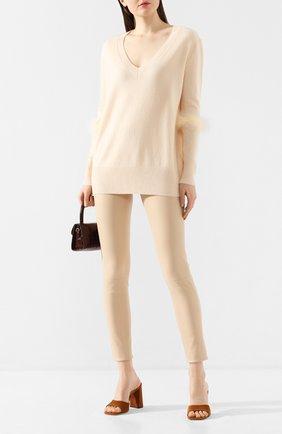Женская пуловер из смеси шерсти и кашемира MAX&MOI кремвого цвета, арт. E20FREJUS | Фото 2