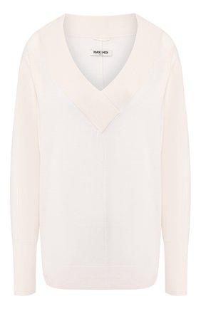 Женская пуловер из смеси шелка и кашемира MAX&MOI белого цвета, арт. E20HARLEM | Фото 1