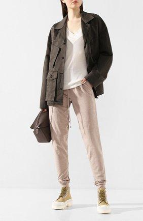 Женская пуловер из смеси шелка и кашемира MAX&MOI белого цвета, арт. E20HARLEM | Фото 2