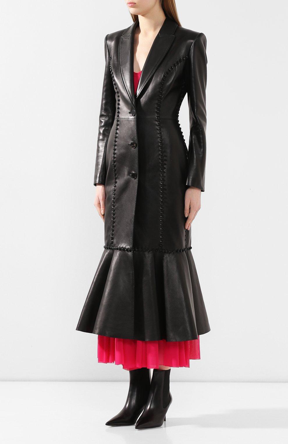 Кожаное пальто | Фото №3