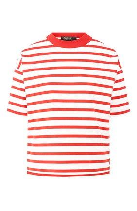 Женская хлопковая футболка LORO PIANA красного цвета, арт. FAI5044 | Фото 1
