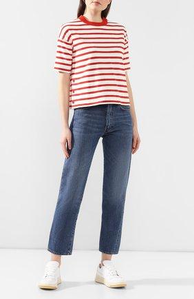 Женская хлопковая футболка LORO PIANA красного цвета, арт. FAI5044 | Фото 2
