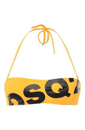 Женский бра-бандо DSQUARED2 желтого цвета, арт. D6BY72440 | Фото 1
