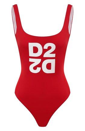 Женский слитный купальник DSQUARED2 красного цвета, арт. D6BG12480 | Фото 1