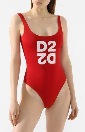 Женский слитный купальник DSQUARED2 красного цвета, арт. D6BG12480 | Фото 2