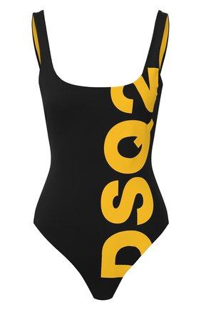 Женский слитный купальник DSQUARED2 черного цвета, арт. D6BG12440 | Фото 1